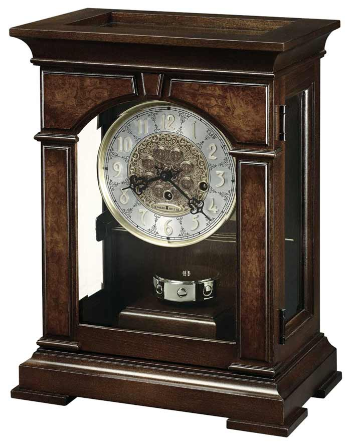 Etonnant Side And Top View Detailed Image Of The Howard Miller Emporia 630 266  Keywound Mantel Clock ...