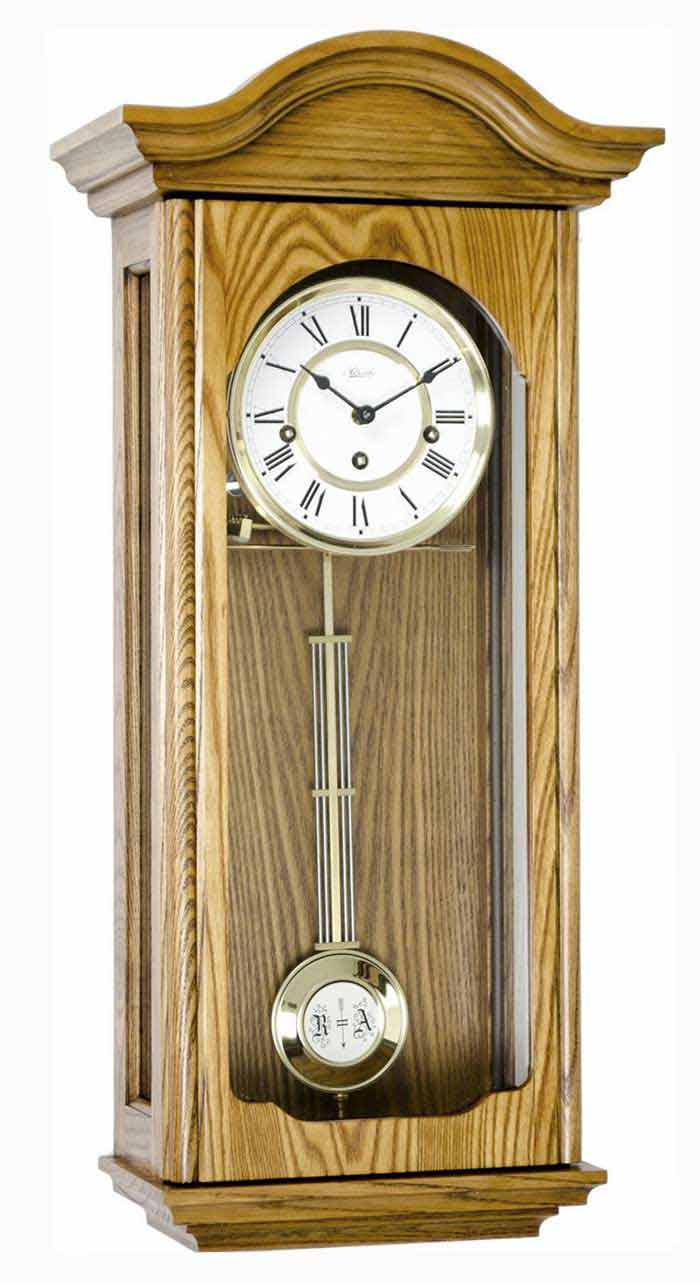 Hermle 70815 I90341 Brooke Keywound Oak Wall Clock The