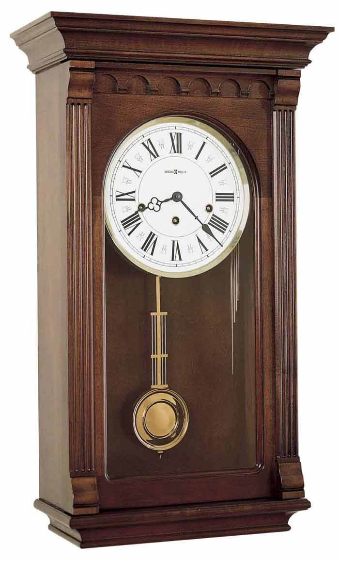 Wall Hanging Grandfather Clock keywound wall clocks - howard miller and hermle keywound wall clocks