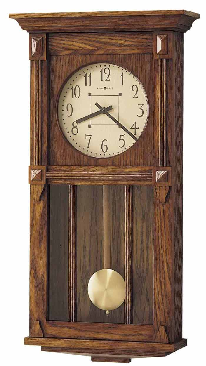 Detailed Image Of The Howard Miller Ashbee Ii 620 185 Mission Style Wall Clock
