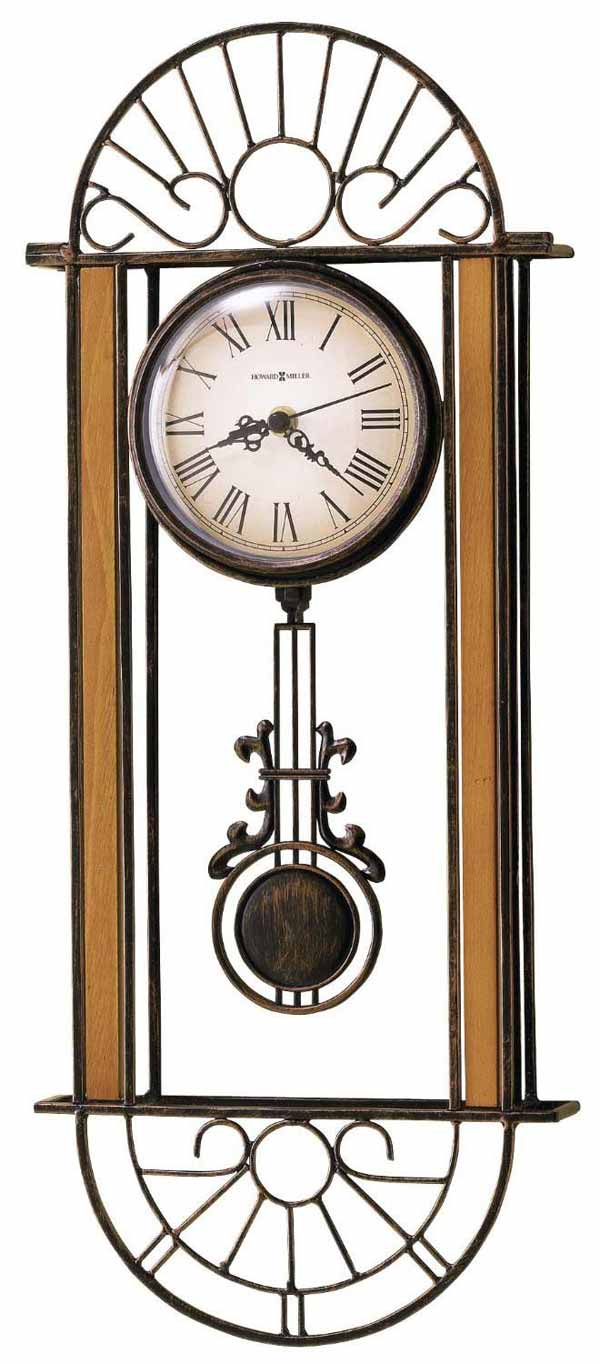 Wrought iron wall clocks the clock depot howard miller devahn 625 241 wrought iron wall clock amipublicfo Images