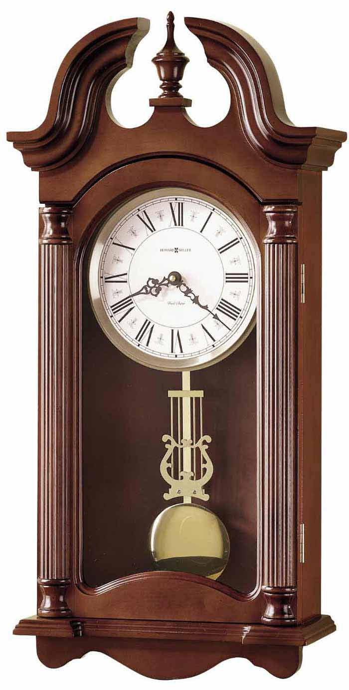 Wall Hanging Grandfather Clock howard miller 625-253 everett chiming wall clock with free shipping