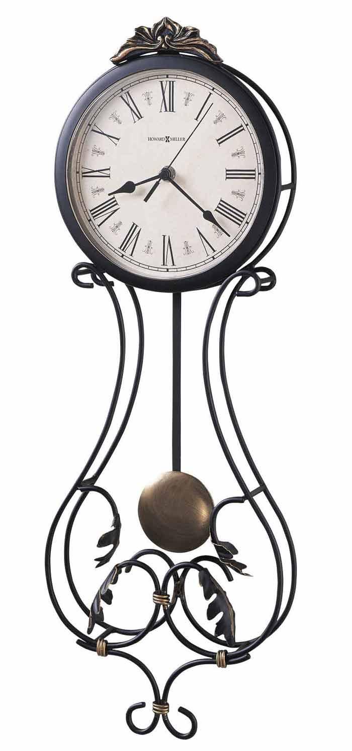 Wrought iron wall clocks the clock depot howard miller paulina 625 296 wall clock amipublicfo Gallery