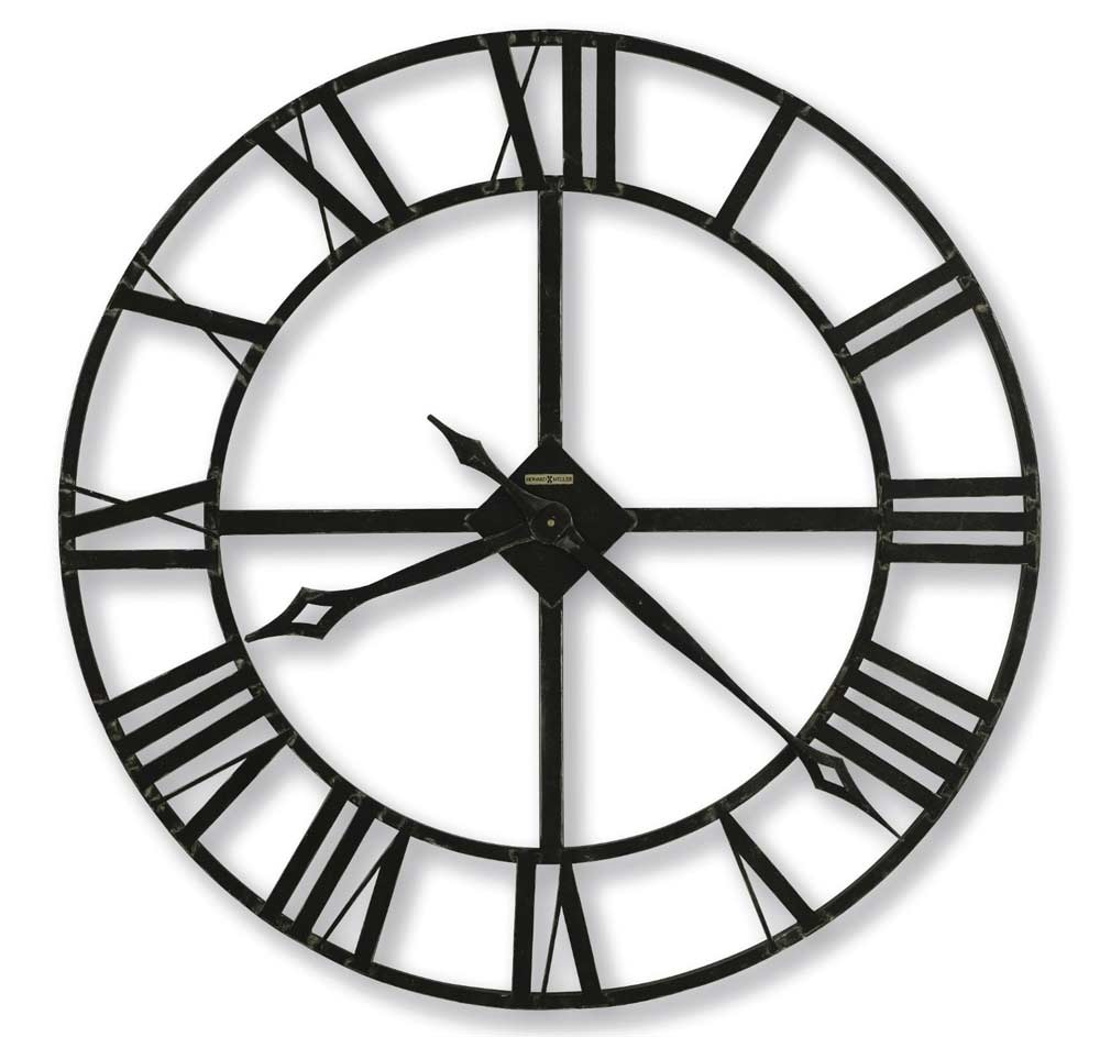 Wrought Iron Wall Clocks Large