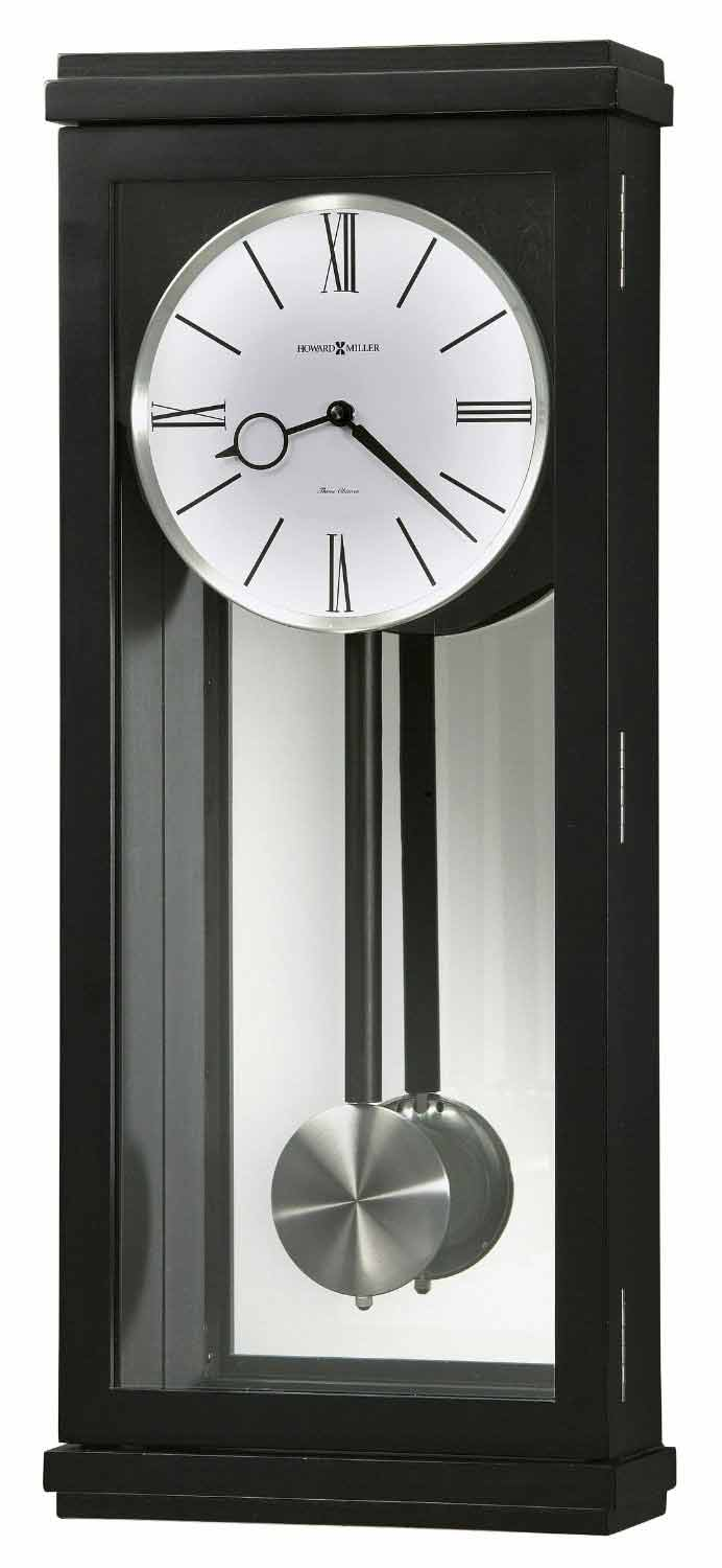 contemporary wall clocks and modern wall clocks  the clock depot - howard miller alvarez  contemporary chiming wall clock