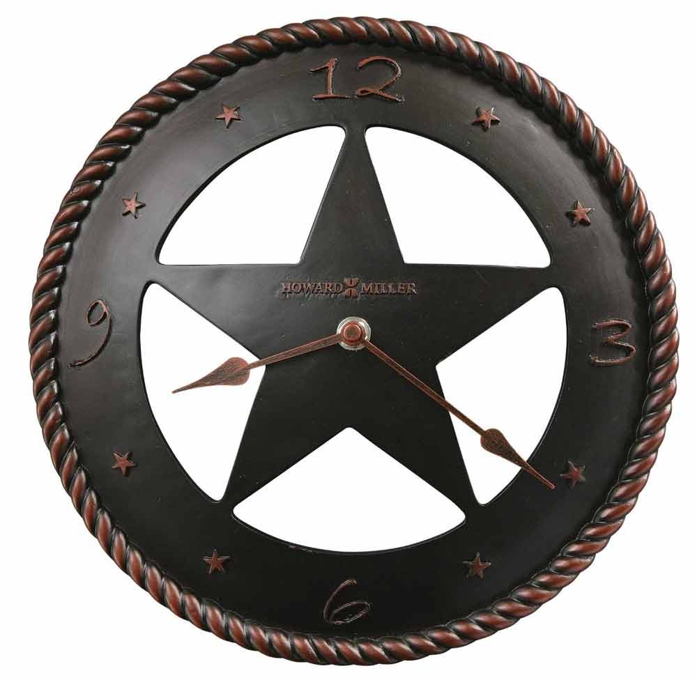 Howard Miller Maverick 625 445 Texas Star Wall Clock The