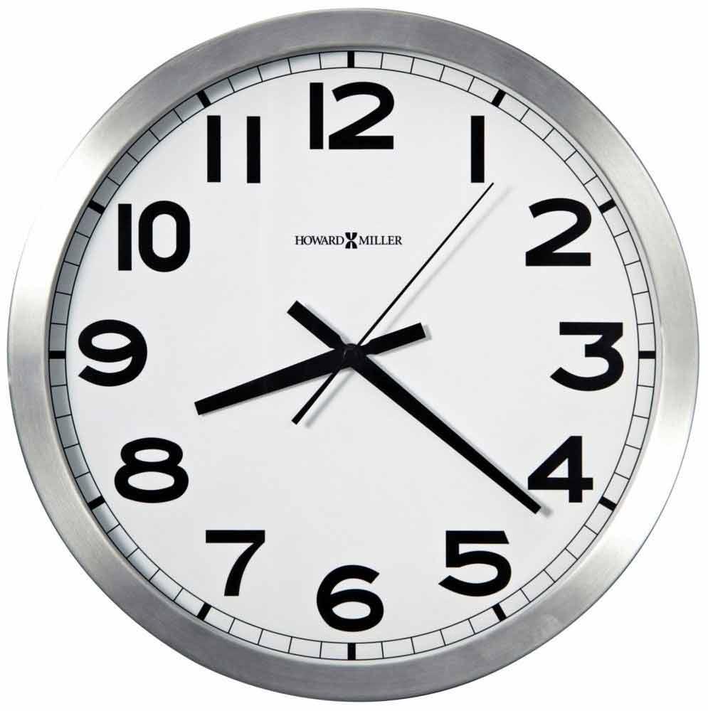 Howard Miller Spokane 625 450 Brushed Silvertone Wall Clock
