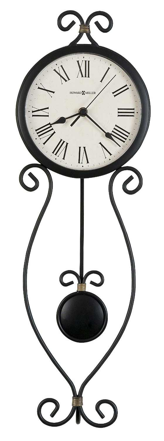 Metal wall clocks the clock depot howard miller ivana 625 495 iron wall clock amipublicfo Image collections
