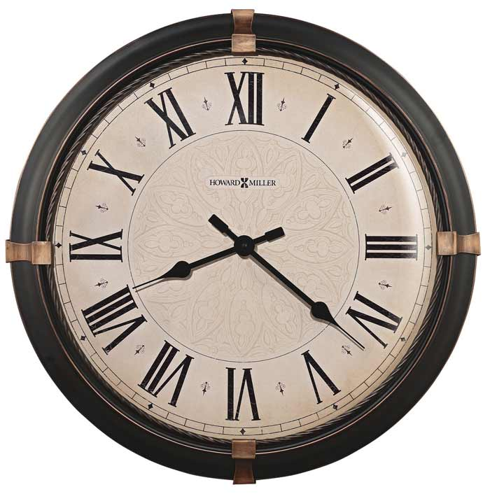Howard miller atwater 625 498 large wall clock the clock for Howard miller large wall clock