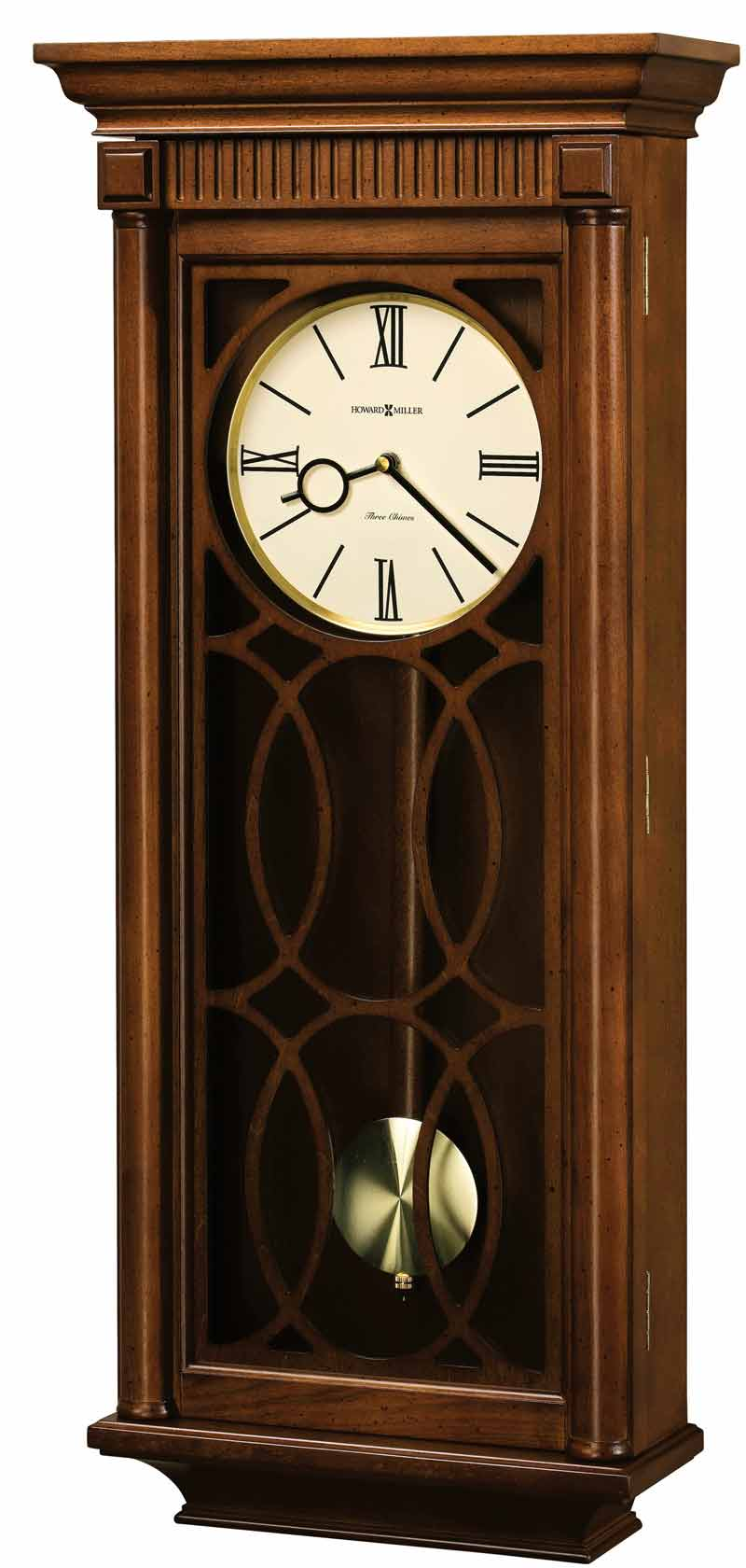 Quartz wooden chiming wall clocks the clock depot howard miller kathryn 625 525 chiming wall clock amipublicfo Choice Image