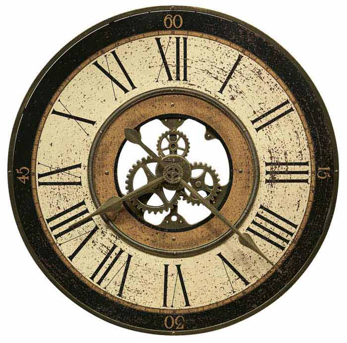 Howard Miller Brass Works 625 542 Large Wall Clock The