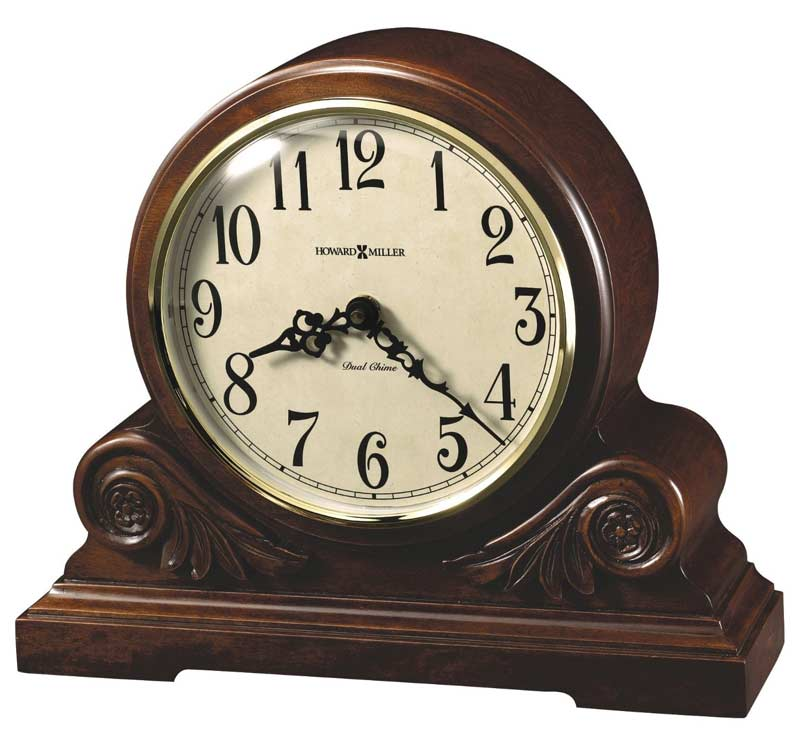 Seiko brushed metal mantel clock
