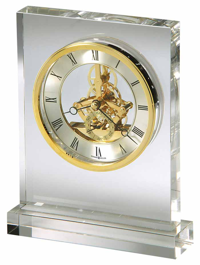 Detailed Image Of The Howard Miller Prestige 645 682 Glass Table Clock