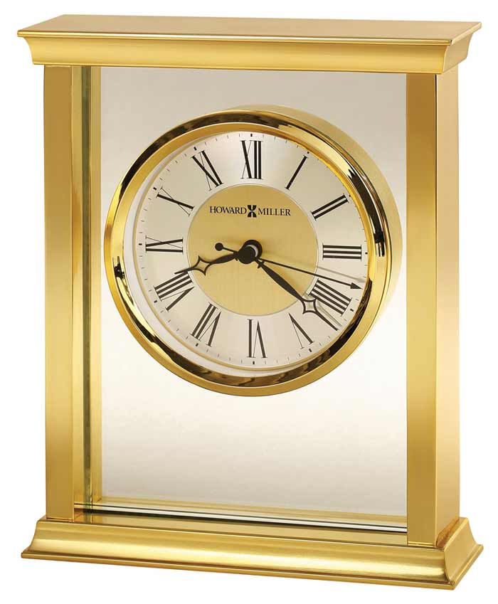 detailed image of the howard miller monticello desk clock table clock - Desk Clocks