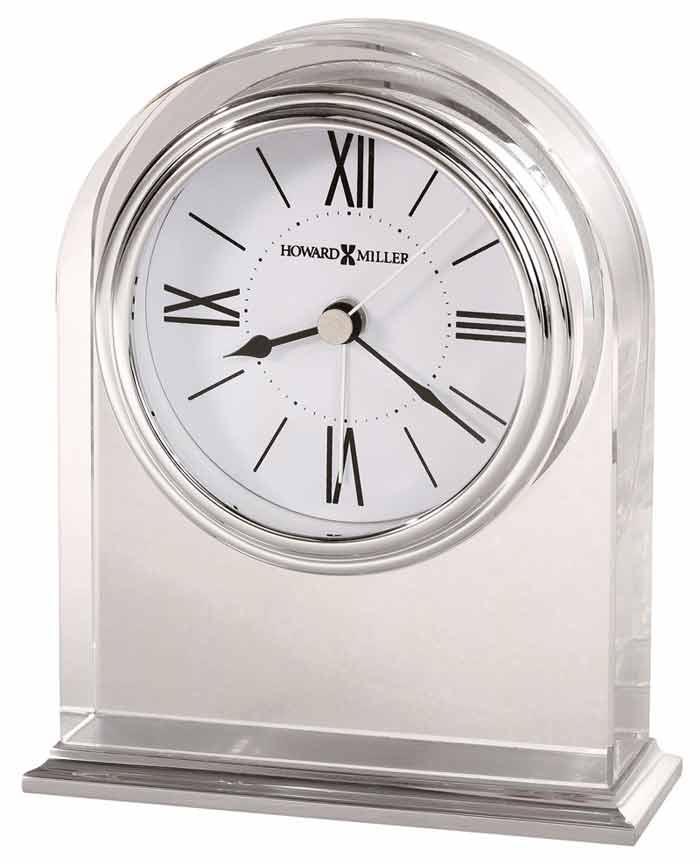 Detailed Image Of The Howard Miller Optica 645 757 Crystal Arched Desk Alarm Clock