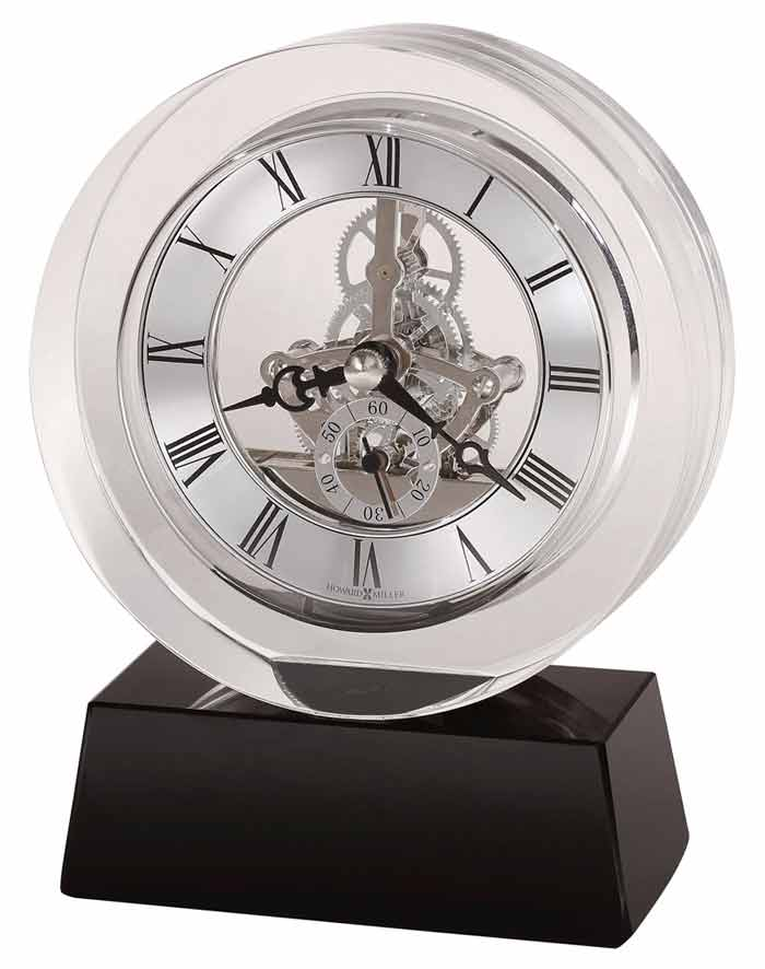 Detailed Image Of The Howard Miller Fusion 645 758 Crystal Desk Clock