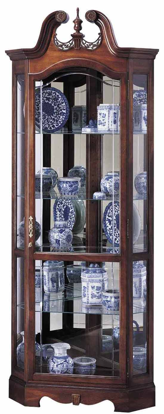 Cherry Curio Cabinets by Howard Miller with Free In Home Delivery