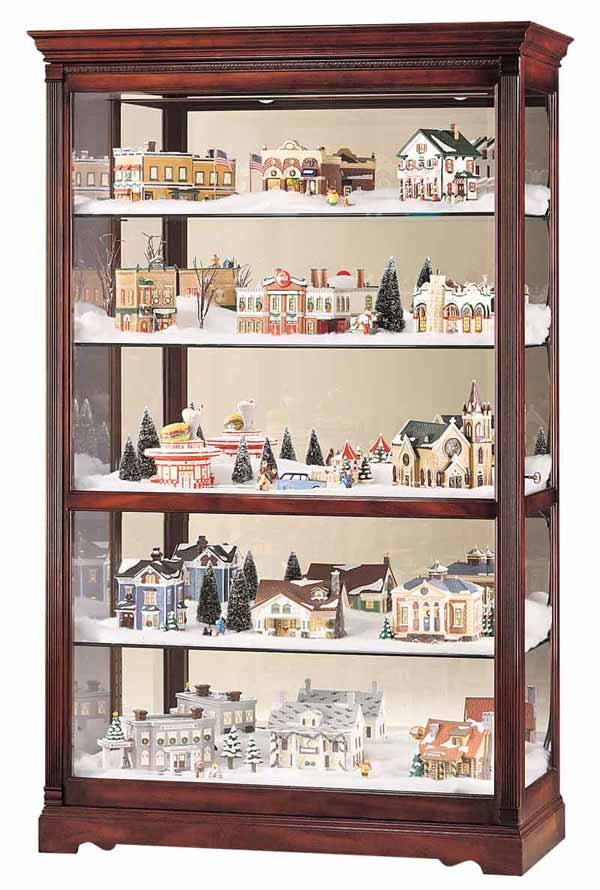 Howard Miller Townsend 680 235 Village Large Curio Cabinet