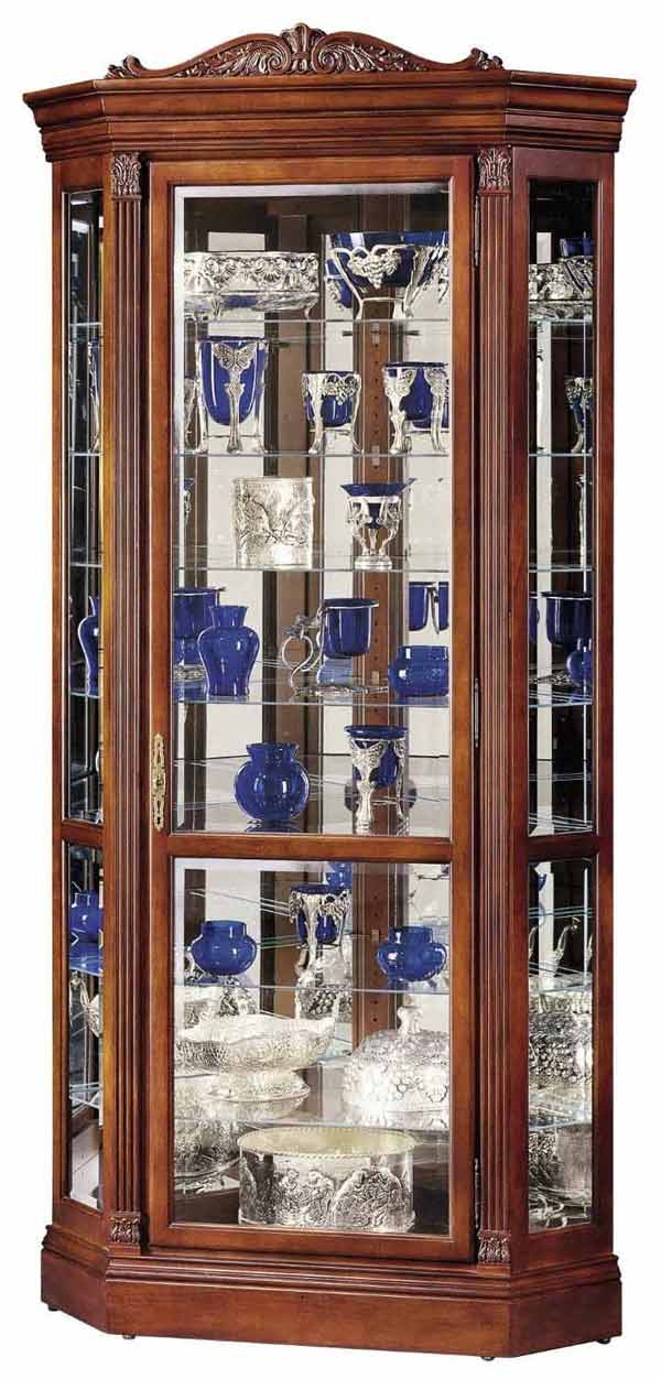 Detailed Image Of The Howard Miller Embassy II 680 290 Cherry Corner Curio  Cabinet ...