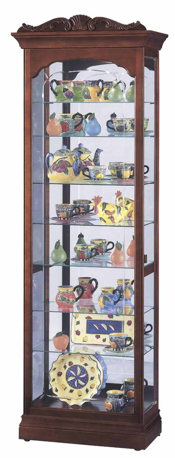Howard Miller Hastings 680 342 Cherry Curio Cabinet The