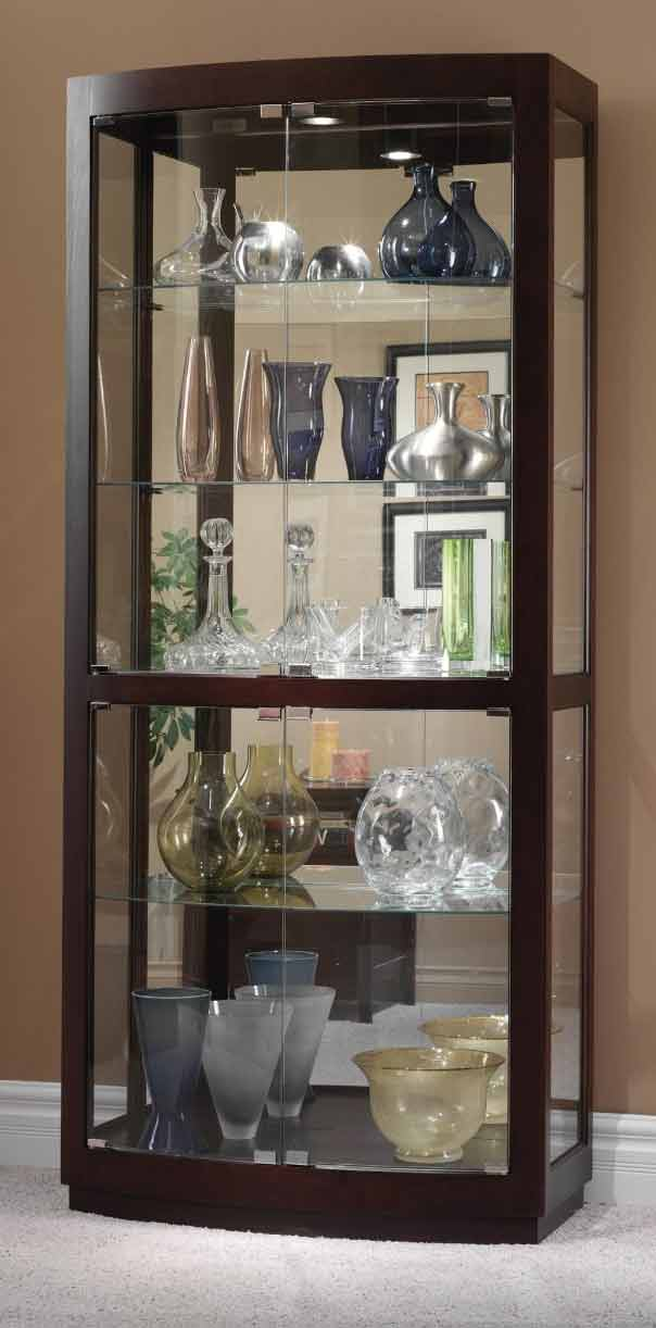 Howard Miller Bradington 680 395 Curved Glass Curio Cabinet