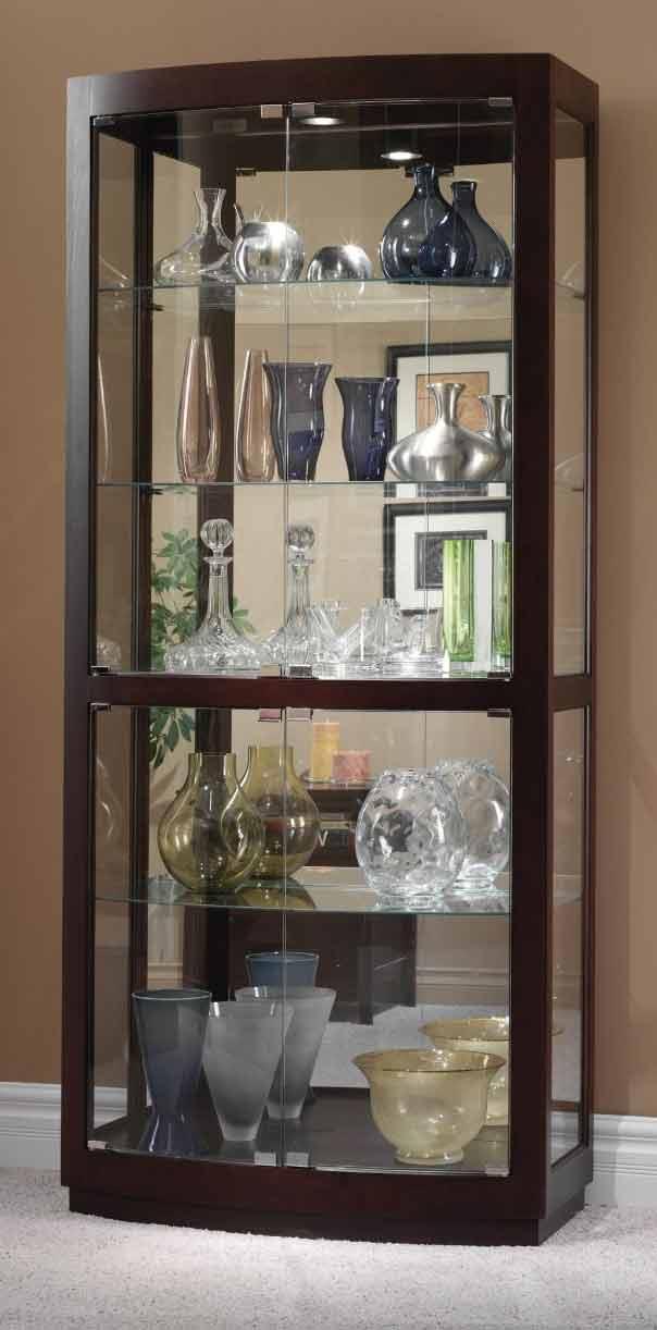 Howard Miller Bradington 680 395 Curved Gl Curio Cabinet