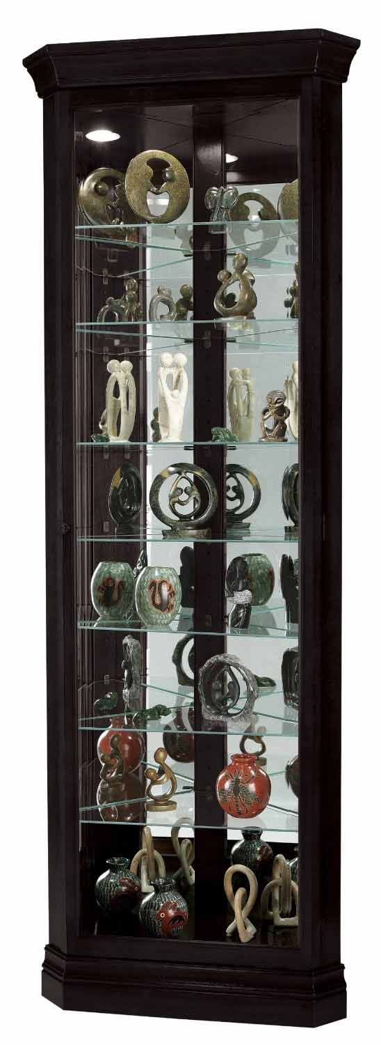 Corner Curio Cabinets Made in USA - The Clock Depot
