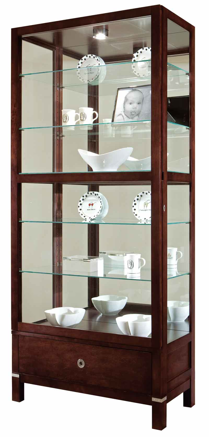 Painted Finish Curio Cabinets at Discounts and Free Shipping
