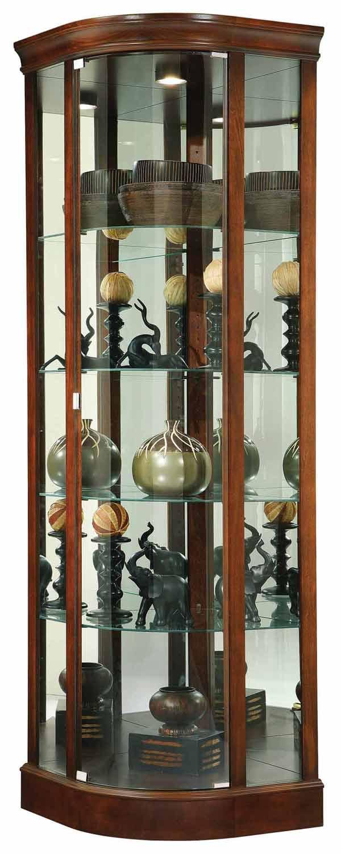 howard miller marlowe corner curio cabinet