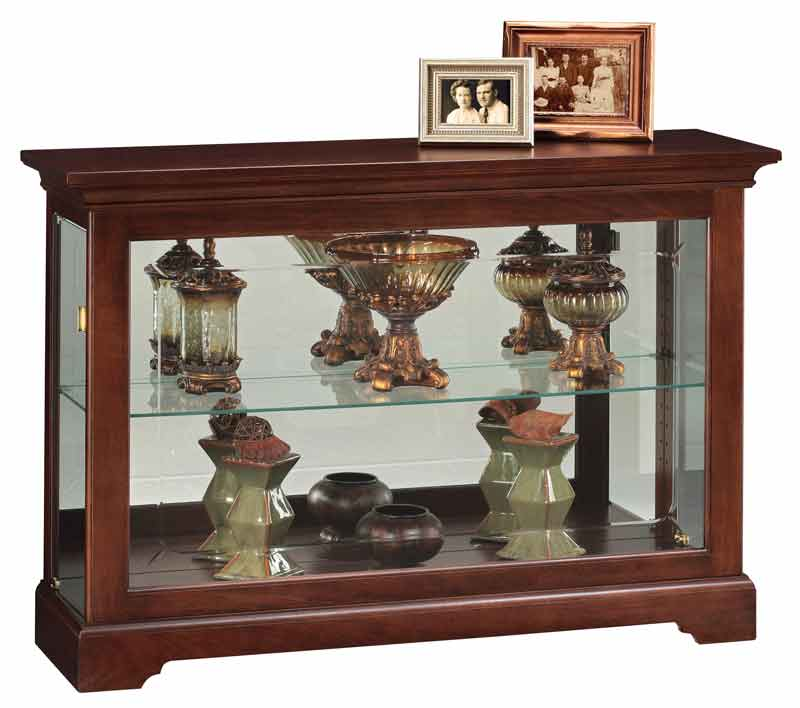 New Cherry Curio Cabinets by Howard Miller with Free In Home Delivery ZU49