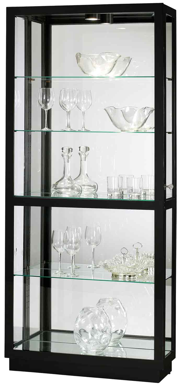 Beau Howard Miller Jayden III 680 572 Polished Black Curio Cabinet