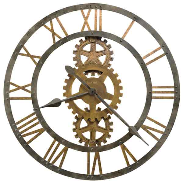 detailed image of the howard miller crosby oversized wall clock
