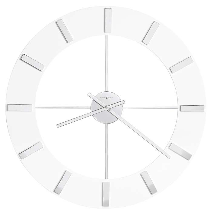 Attractive Large White Clock Part - 9: High Resolution Image Of The Howard Miller 625-596 Pearl Large Contemporary  Wall Clock ...