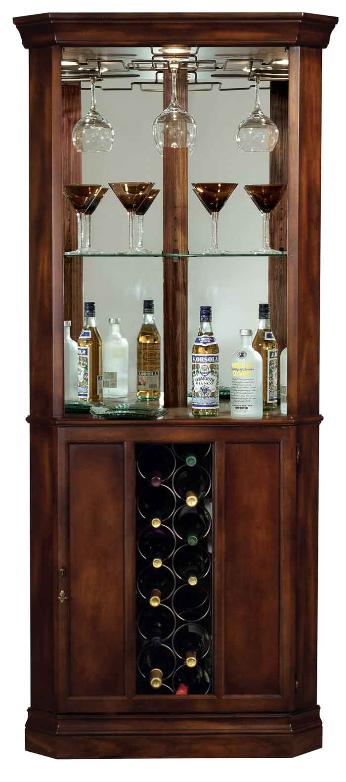 Cherry Bar Cabinet Wine Cabinets And Wine Storage At Lowest Prices The Clock Depot