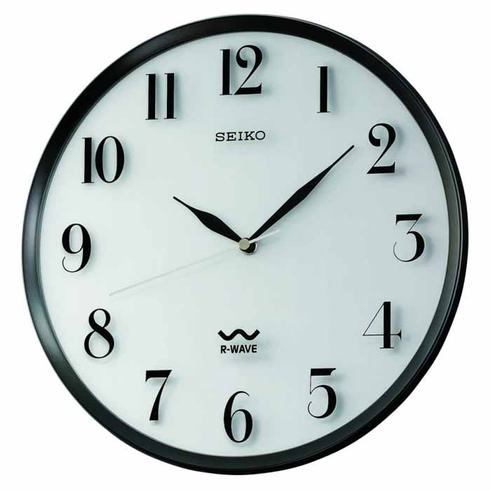 Seiko QXR131SLH Atomic Radio Controlled Wall Clock   The Clock Depot