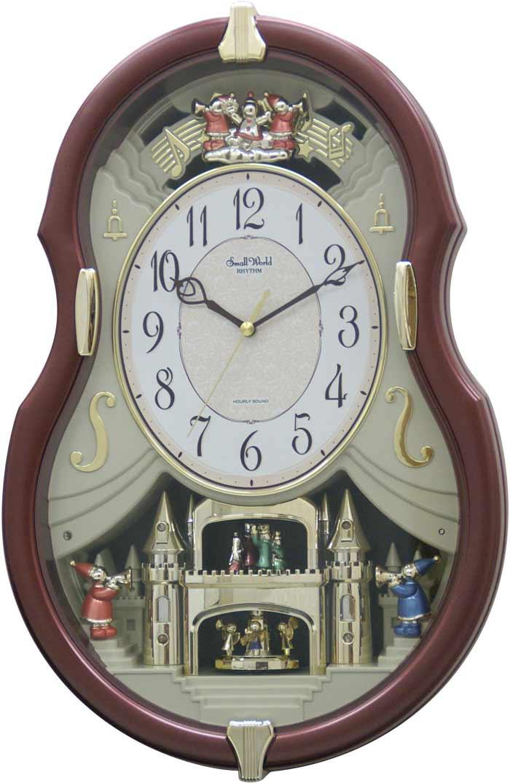 Rhythm 4mh829wd06 Viola Entertainer Musical Motion Clock