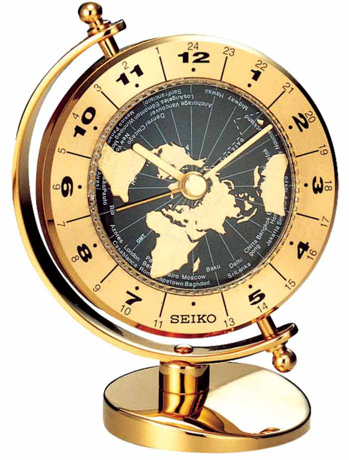 World time clocks analog world time clocks digital world time clocks seiko qhg106glh world time clock gumiabroncs Choice Image