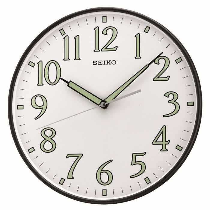 Seiko Qxa521klh Luminous Hands Wall Clock The Clock Depot
