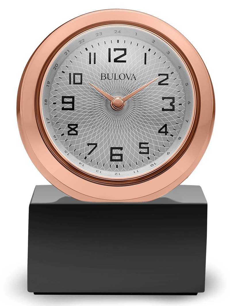 Bulova B5015 Sphere Tabletop Clock The Clock Depot