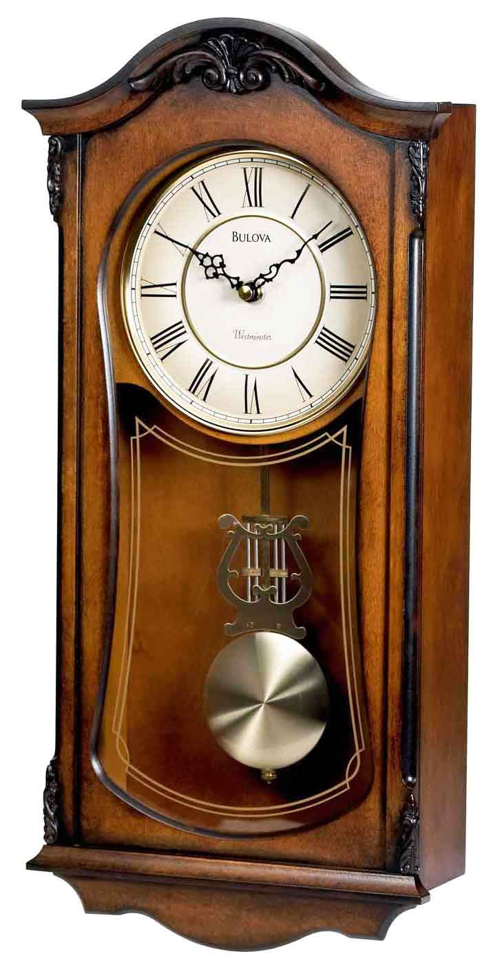 Bulova C3542 Cranbrook Ii Pendulum Wall Clock The Clock Depot