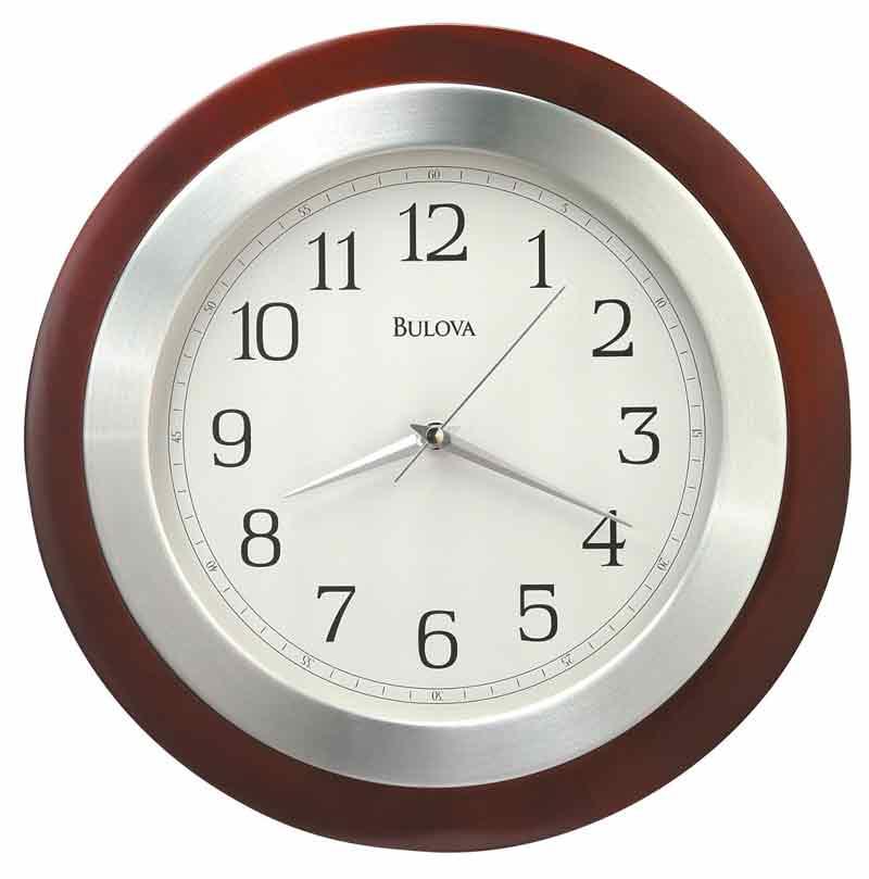 Bulova C4228 Reedham Walnut Contemporary Clock The Clock