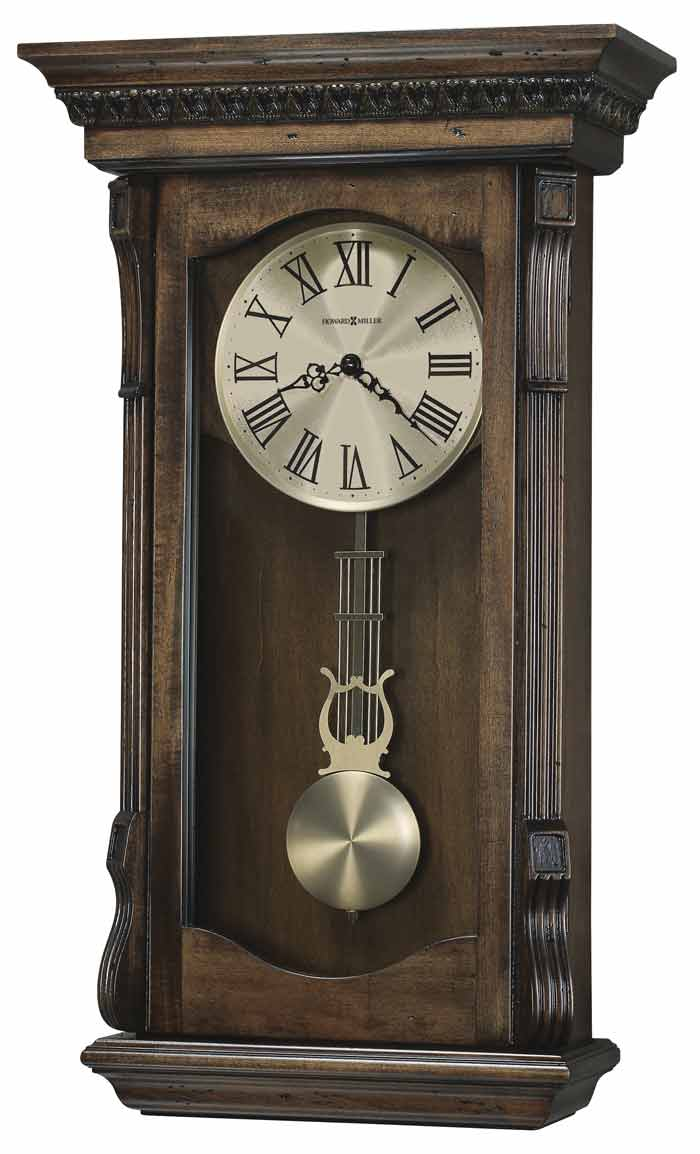 Howard miller agatha 625 578 rustic wall clock the clock depot - Wall mounted grandfather clock ...