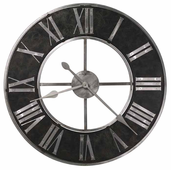 Delightful Large Black Kitchen Clock Part - 9: Howard Miller Dearborn 625-573 Large Wall Clock Offers An Industrial Look  ...