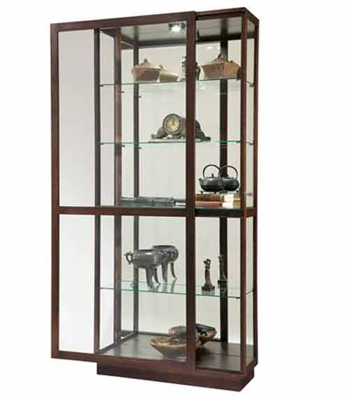 Howard Miller Jayden 680-575 Espresso Curio Cabinet - The Clock Depot