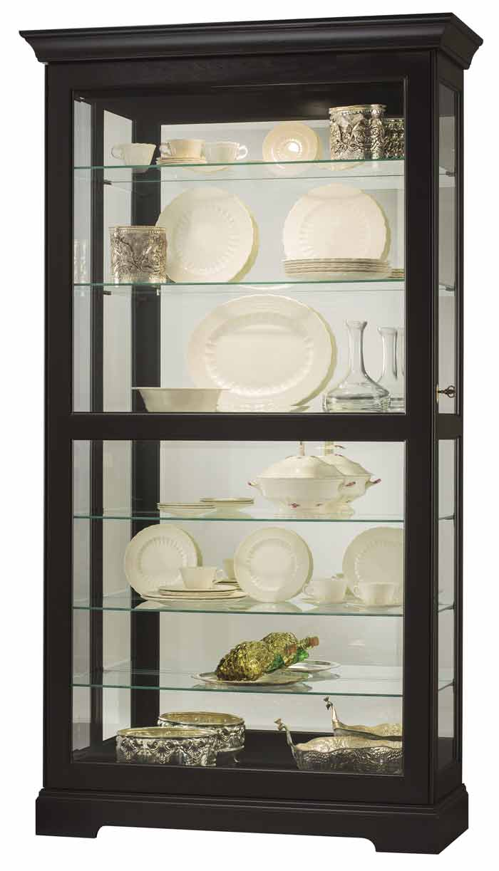 Howard Miller Tyler Ii 680 538 Black Curio Cabinet The