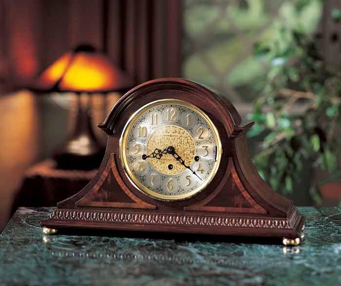 Room Setting Of Howard Miller Webster 613 559 Keywound Mantel Clock