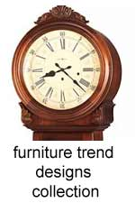 "click here for unique ""furniture trend"" collection floor clocks"