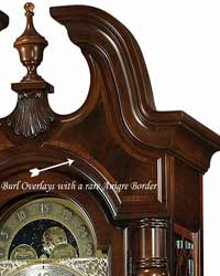 Grandfather Clock Top detail