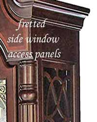 fretted side panel detail