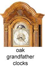 click here for Oak Grandfather Clocks